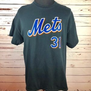 Other - METS Mike Piazza Black Short Sleeve Tee Shirt